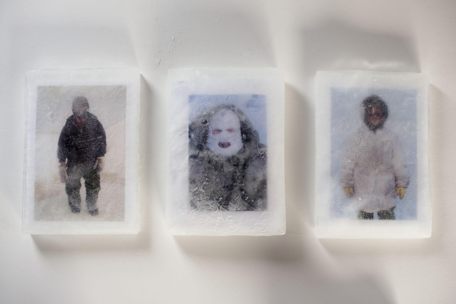 Ice block sketches triptych (detail)